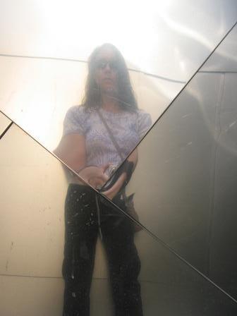 Reflection in the Disney building in LA